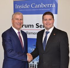 Michael McCormack MP with Michael Keating, editor-in-chief of Inside Canberra