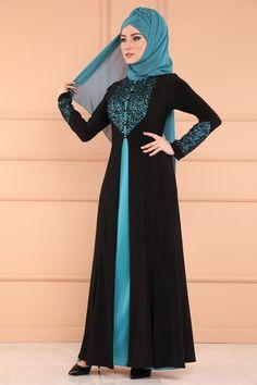 Muslim Fashion, Hijab Fashion, Black Abaya, Stylish Hijab, Special Dresses, Mehandi Designs, New Model, The Dress, Bridal