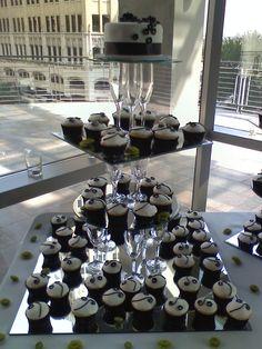 Homemade Cupcake Tower! Champagne Glasses & Mirrors!