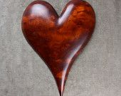 Heart, wood carving