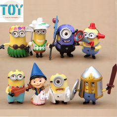 Find More Action & Toy Figures Information about New 8 PCS Minions Despicable Me 2 PVC Action Figures 3D Eyes Anime Minion Puppets Dolls Hand Made Kids Gifts Free Track,High Quality mini toy,China mini conditioner Suppliers, Cheap mini helicopter toy from Toys in the Kingdom on Aliexpress.com