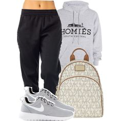 A fashion look from January 2015 featuring Brian Lichtenberg sweatshirts, NIKE sneakers and MICHAEL Michael Kors backpacks. Browse and shop related looks.