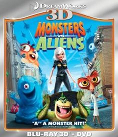 Amazon.com: Monsters vs. Aliens (Two-Disc Blu-ray 3D/DVD Combo): Monsters Vs Aliens: Movies & TV