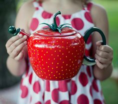 my strawberry tea pot
