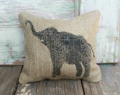 Miss Baba the Circus Elephant  Burlap Feed by nextdoortoheaven, $10.00