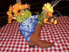 Western Party centerpiece