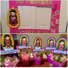 Primera Comunion/First Communion Virgencita #centerpieces#picframe