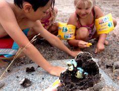 Dinosaur egg hunt. Kids craft diy