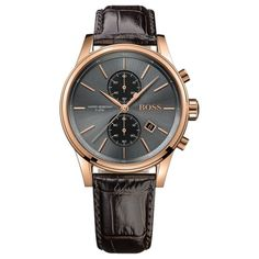 Boss Hugo Boss Men's Chronograph Jet Brown Leather Wristwatch 41 mm 1513281 - Brown Source by pe Hugo Boss Homme, Hugo Boss Man, Hugo Men, Cool Watches, Watches For Men, Men's Watches, Luxury Watches, Fashion Watches, Men's Fashion