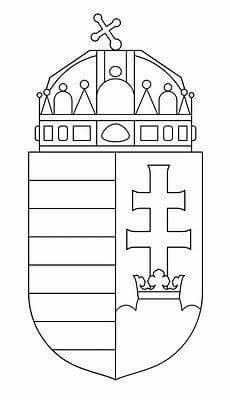 Cute Coloring Pages, Free Coloring, Culture Day, Diy And Crafts, Crafts For Kids, Leather Bag Pattern, Thinking Day, Coat Of Arms, Hungary