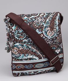 98a77fd60abc This magnificent messenger bag s pretty paisley print makes it a style  statement all on its own