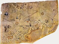 Ancient Pyramids in an Icy Landscape: Was There an Ancient Civilization in Antarctica? Mystery Show, Mystery Of History, Vintage Maps, Antique Maps, Piri Reis Map, Out Of Place Artifacts, Mysterious Universe, Paris Map, Historical Artifacts