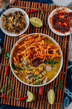 Learn how to make chicken khao soi, a coconut curry noodle soup recipe hailing from Northern Thailand, Myanmar, and Laos, with both chewy & crispy noodles! Crispy Noodles, Wonton Noodles, Curry Noodles, Laos, Thai Coconut, Coconut Curry, Coconut Milk, Soup Recipes, Chicken Recipes
