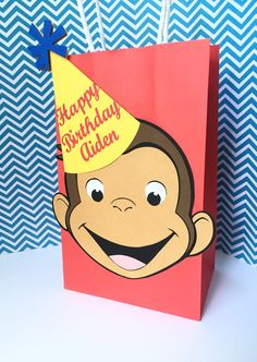 Curious George Favor Bags/ Curious George Birthday Party/ Curious George…