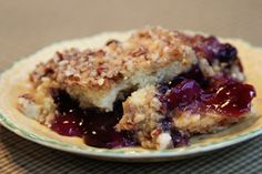 Pineapple Blueberry Crumble #recipe