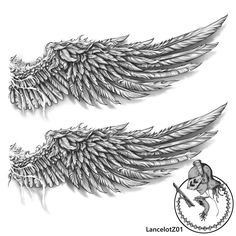 #wings #wing #feathers #tattoo #tattoodesign #lancelotz01