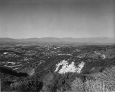 "A view of the San Fernando Valley from Topanga Canyon :: ""Dick"" Whittington Photography Collection, 1924-1987"
