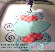 Multiple Fabric Applique Butterfly Design   Machine Embroidery Designs   Lovely Patterns You Can Do Yourself