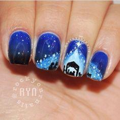Rockyournails Christmas nail art