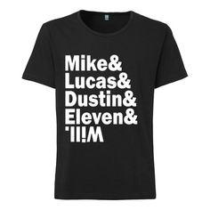 Mike And Lucas And Dustin And Eleven And Will T-shirt