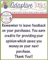 Make sure and leave feedback on TpT purchases. You earn credits towards next purchase!