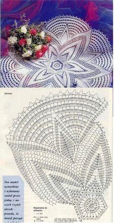 Napperon étoile Kira Scheme crochet no. Free Crochet Doily Patterns, Crochet Doily Diagram, Crochet Motifs, Crochet Art, Thread Crochet, Vintage Crochet, Crochet Designs, Crochet Stitches, Filet Crochet
