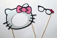 Hello Kitty Wedding Photo Booth Props