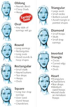 Earrings That Compliment Your Face The right pair of earrings will perfect your look while...