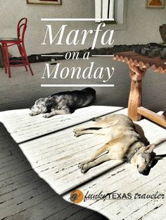 Visit Marfa on a Monday for a low key experience