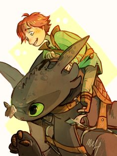 Innocence - Kid Hiccup and Toothless - HTTYD <3