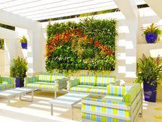 jardins suspendus et déco de mur intérieur