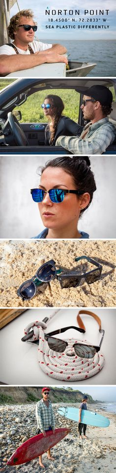 "Each frame follows Norton Point's philosophy of ""One Pound One Pair"", which basically mean that each pair of sunglasses is responsible for cleaning and reusing one pound of the Ocean's plastic waste. Creating an ecosystem and a business that's more about consciously cutting down on plastic waste than about profitability, Norton Point sources their plastic from the wastelands in Haiti, employing hundreds, and incentivizing the waste-collection process. BUY NOW!"