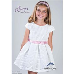 Vestido de niña ceremonia AMAYA modelo 22428 (BAJO PEDIDO)