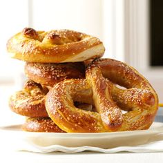 Soft Beer Pretzels Recipe -What goes together better than beer and pretzels? Not much that I can think of. That's why I put them together into one delicious recipe. I'm always looking for new ways to combine fun flavors and this pretzel certainly fits the bill. —Alyssa Wilhite, Whitehouse, Texas