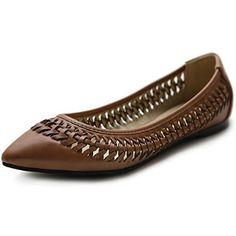 Ollio Women's Ballet Shoe Pointed Toe Weave Comfort Multi Color Flat : Amazon.com