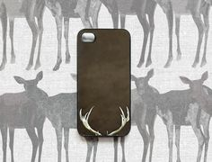 iPhone case for men, plastic Iphone 4 case for Autumn for your iPhone 4s, dudes, antlers, brown, (In Stock) gifts under 30. $30.00, via Etsy.