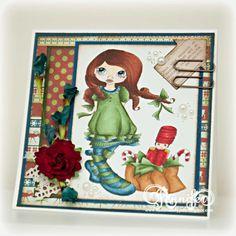 Christmas Nutcracker, 3D Handmade Greeting Card by Jenn