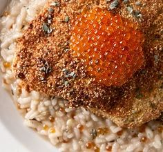 A wild trout recipe inspired by the food of the Pauite Indians. Lahontan trout with pine nuts served over trout egg risotto. Trout Recipes, Salmon Recipes, Seafood Recipes, Indian Food Recipes, Ethnic Recipes, Salmon Soup, Pine Nut Recipes, Crusted Salmon, Risotto Recipes