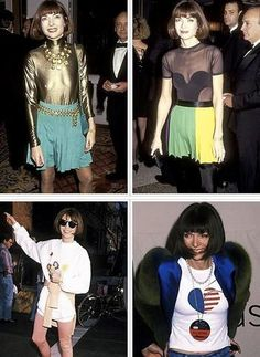 Anna Wintour in her younger chic years. #fashion #vogue