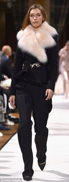Bella Hadid, Lily Donaldson, Joan Smalls walk for Lanvin | Daily Mail Online