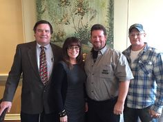 Minerva Dairy Years of Service Christmas Party was held today at the Hart Mansion in 2014. Recognition was given to those who reached 5yr milestones. Pictured left to right Phil Mueller 50yrs, Jackie Evans 15yrs, Dean Hartshorn 40yrs and Tom Wilson 10yrs.