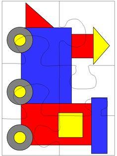 puzzle locomotief/geovormen