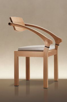 Contemporary Wooden Chair With Armrests Massimo Scolari Giorgetti