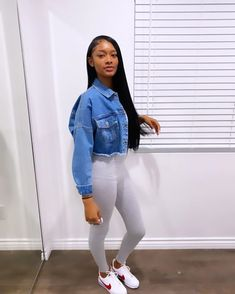 Swag Outfits For Girls, Cute Swag Outfits, Chill Outfits, Teen Fashion Outfits, Dope Outfits, Trendy Outfits, Summer Outfits, Black Girl Fashion, Big Fashion