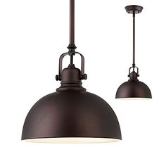 Kitchen and Bar 1 Light Mini Pendant with Oil Rubbed Bron...
