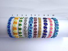 Colorful Flower-Power Beaded Daisy-Chain Bracelets Thin Beaded Flower Bracelets (12.90 EUR) by ParChevalier