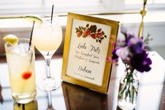 A Midsummer Belmont Country Club Wedding.  Always a great addition to your open bar - a signature for the couple.  Photo Credit:  Longbrook Photography www.belmontcountryclub.com