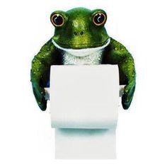 Frog toilet paper holder walmart bath bathroom home decor next purchase . Frog Bathroom, Modern Bathroom Tile, Simple Bathroom, Design Bathroom, Bathroom Ideas, Wall Stickers Animals, Diy Wall Stickers, Frog Toilet Paper Holder, Frog House