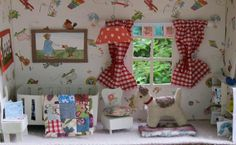 """Cute!  Found on Cath Kidston's FB page in her """"Dream room in a box"""" photo album."""