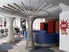 Ofis, 'Think', 'Do', 'Make' olarak tematik 3 bölüme ayrıldı.